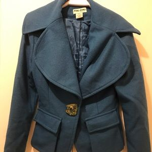 MIU MIU women fancy blue jacket